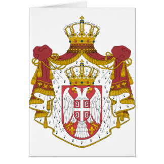 Serbia Coat of Arms Card