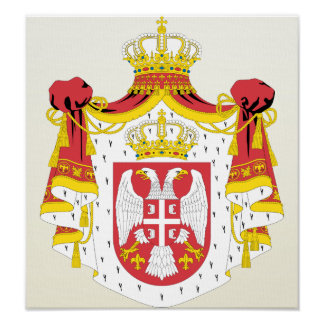 Serbia Coat of Arms detail Poster