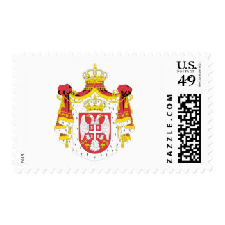 Serbia coat of arms postage