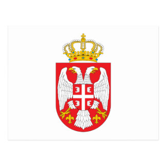 Serbia  Coat of Arms Postcard