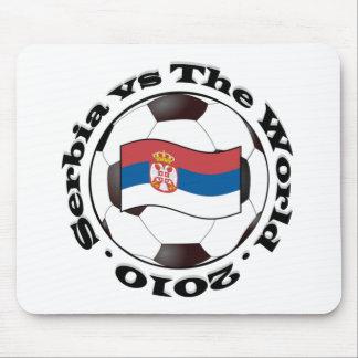 Serbia contra el mundo alfombrilla de ratón