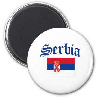 Serbia Flag 2 Inch Round Magnet