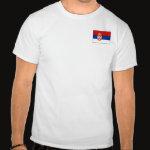 Serbia Flag Map Basic T-Shirt