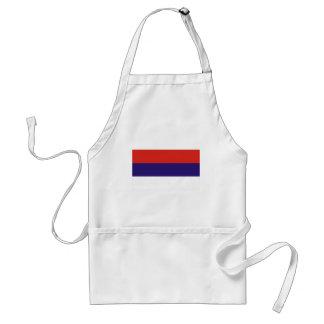 Serbia flag aprons
