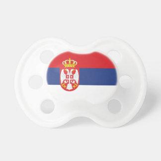 Serbia Flag Booginhead Pacifier