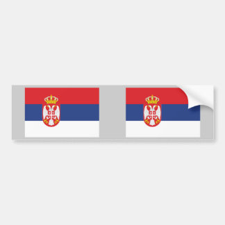 Serbia Flag Car Bumper Sticker