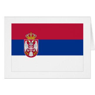 Serbia Flag Card