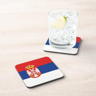 Serbia Flag Coaster