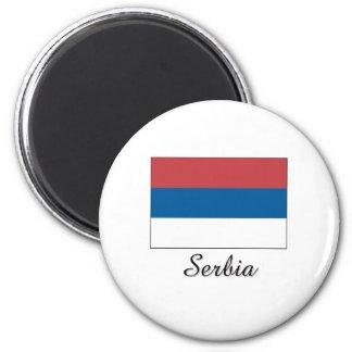 Serbia Flag Design 2 Inch Round Magnet