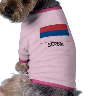 Serbia Flag Doggie T-shirt