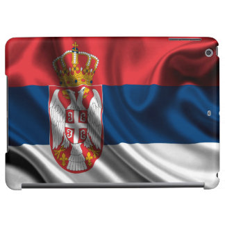 Serbia Flag Fabric iPad Air Case