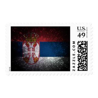 Serbia Flag Firework Stamps