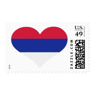 Serbia flag heart stamp