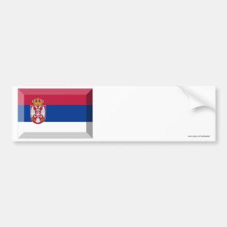 Serbia Flag Jewel Car Bumper Sticker