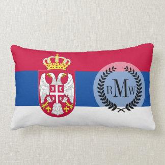 Serbia Flag Lumbar Pillow