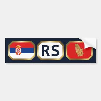 Serbia Flag Map Code Bumper Sticker