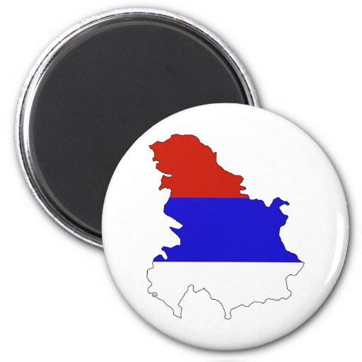 Serbia Flag Map full size Fridge Magnet