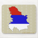 Serbia Flag Map full size Mouse Pad
