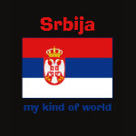 Serbia Flag Map Text Ladies Baby Doll
