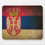 serbia flag mouse pad