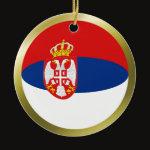 Serbia Fisheye Flag Ornament