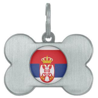 Serbia Flag Pet Name Tag