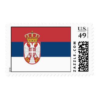 Serbia Flag Postage