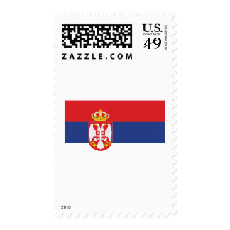 Serbia flag stamps