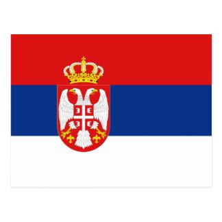 Serbia Flag Postcard