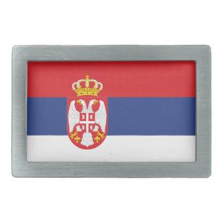 Serbia Flag Rectangular Belt Buckles