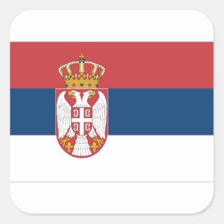 Serbia Flag Square Sticker