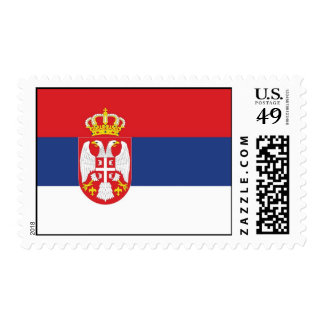 Serbia flag stamp