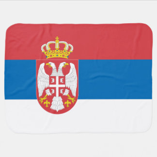 Serbia Flag Stroller Blanket