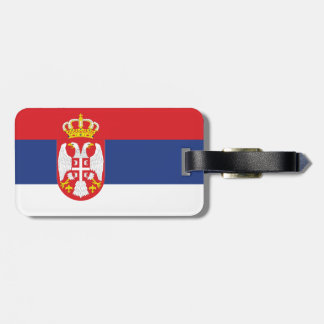 Serbia Flag Tags For Luggage