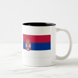 Serbia Flag Two-Tone Coffee Mug