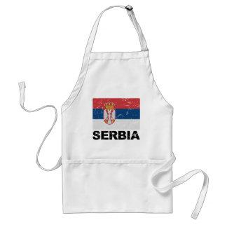Serbia Flag Vintage Adult Apron