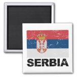 Serbia Flag Vintage Magnet