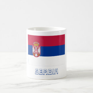 Serbia Flag with Name Classic White Coffee Mug