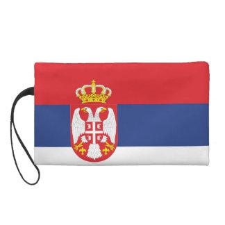 Serbia Flag Wristlet Clutch