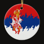 Serbia Gnarly Flag Ceramic Ornament