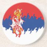 Serbia Gnarly Flag Drink Coaster