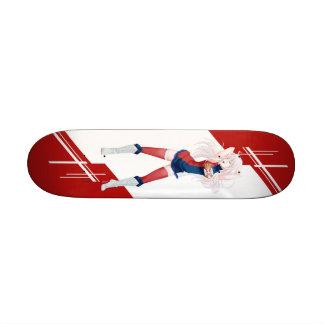 Serbia Manga girl dressed in Flag - Serbian Skateboard Decks