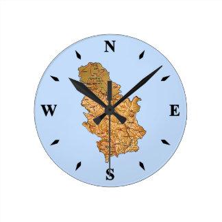 Serbia Map Clock
