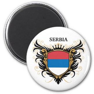 Serbia [personalice] imán de frigorífico