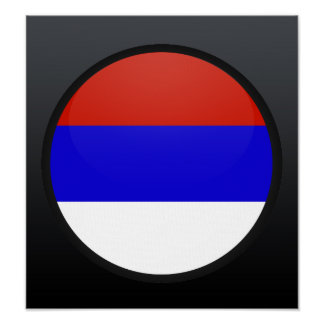 Serbia quality Flag Circle Posters