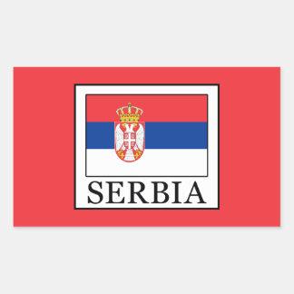 Serbia Rectangular Sticker