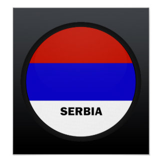 Serbia Roundel quality Flag Posters