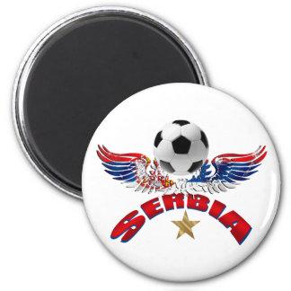Serbia soccer ball wings of power Srbija design 2 Inch Round Magnet
