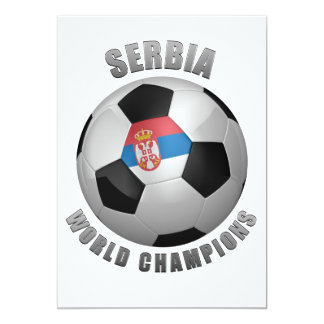 SERBIA SOCCER CHAMPIONS CARD