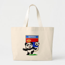 Jumbo Tote Bag with Serbia Football Panda design